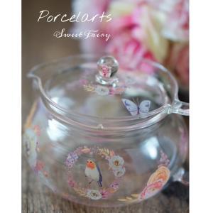 ポーセラーツ☆アイスティー用に用に使えるガラスポットとグラス