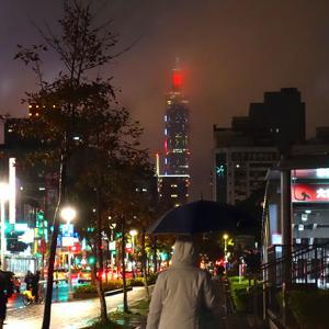 2018-2019年 雨の台北101年越し花火