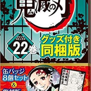 鬼滅の刃 22巻 缶バッジセット・小冊子付き同梱版 (ジャンプコミックス) (日本語)