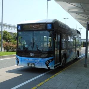 近鉄と名鉄で行く名古屋観光(4.イオンモール常滑行きの燃料電池バス)