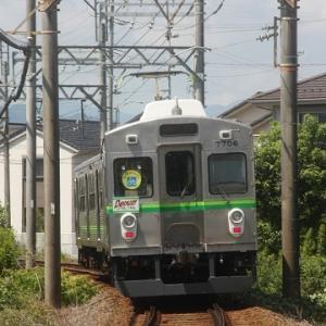 8/8養老鉄道撮影記(2.新型車両7700系とハローキティ装飾編成)