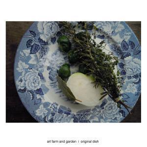 芽キャベツとカブの温野菜/[アート農場と庭]のアートフード