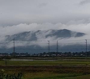 曇り空 ・・ラグビー  河川氾濫