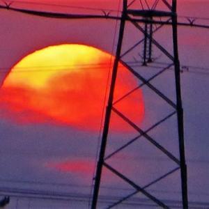 朝陽・・数分見えて火曜日