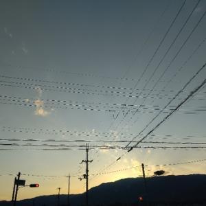 厳しい暑さで~夕景~