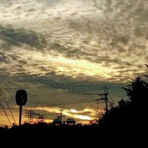 小さな夕焼け~家路途中
