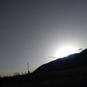 強風に夕暮れ~月曜日