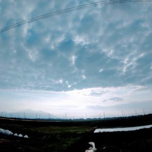 曇り空の土曜日午前