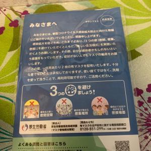 あべのマスク 届いた!2020/6/12