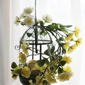 美しいモッコウバラのキャンドル・アレンジメント*生徒さんの作品