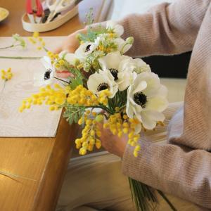 Anemone,Mimosa Bouquet*Happy Wedding