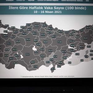 野党からAKPへの質問とその雑感、2月の経常収支、4月10~16日の10万人当たりのKOVID-19感染者数、トルコにおける新型コロナウイルス患者発生の404日目の状況