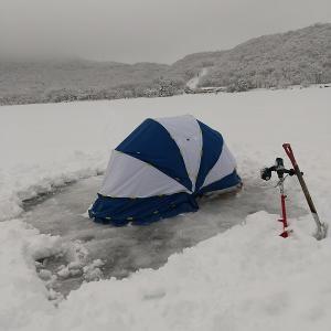 赤城大沼氷上ワカサギ釣り本年2回目