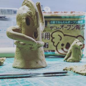 オーブン陶土で埴輪作り始めましたw