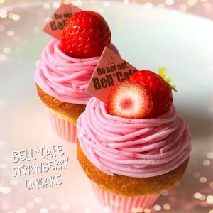 ・樹脂粘土でナパージュたっぷり苺のモンブラン・カップケーキ