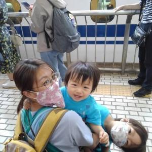 マスクと消毒液と体温計と孫2人と嫁ちゃんと熱海へ
