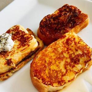 【ちぇり飯】お家ご飯をもっと楽しく♪  卵1個から3つの味に!いつものフレンチトーストに一味加えてバリエーションを色々と!