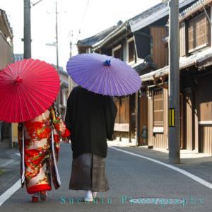 湯浅町伝統保存地区での和装ロケーションフォト