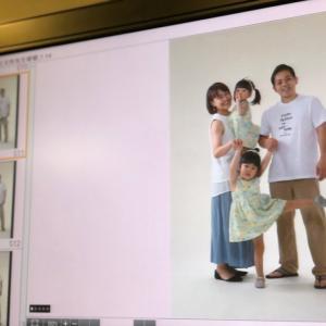 家族で撮影モデルさん