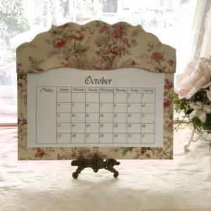 花柄の布で♡カレンダーホルダー《カルトナージュ》フリースタイルレッスン
