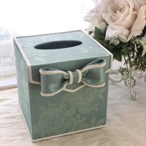 お嫁入りした♡スリムなティッシュボックス《カルトナージュ》キューブ型ティッシュBOX