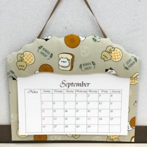 おかえり園田くん♡三村ベーカリーのパン柄のカレンダーホルダー《カルトナージュ》鎌取カルチャー