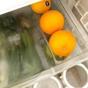 トップバリュの冷蔵庫整理トレー《整理収納お片付け ハウスキーピング》オレンジの定位置に