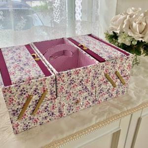 自宅*ローラアシュレイでカトリーヌ先生のお裁縫箱