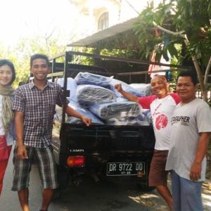 被災地に物資を届けました その2 トロコンバル、トロコデ、ガンガ村