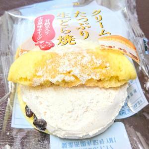 山崎製パン スイーツ 『 クリームたっぷり生どら焼き 』 甘納豆入り小豆風味ホイップ♡