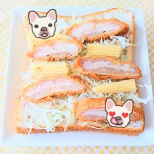 先日の朝パン♡ お手軽 ファミチキ ヤングコーン トースト ♪