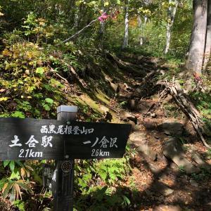 谷川岳(西黒尾根の急登)