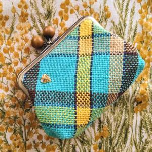 手織りの親子がま口財布2点完成です♪