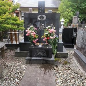 今日のお墓参り