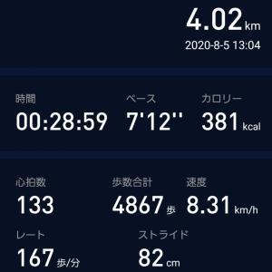 久しぶりにジョギング