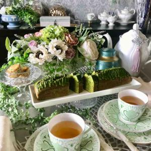 AfternoonTea at Home  酒粕入り抹茶ケーキ