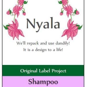 無料ラベルデータDL:シャンプー&コンディショナー Nyala2