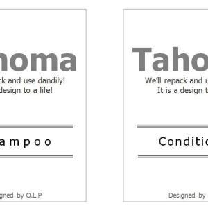 無料ラベルデータダウンロード:Tahoma(シャンプー&コンディショナー)