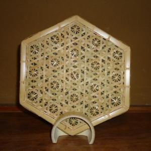 試作 六つ目菊の飾り皿