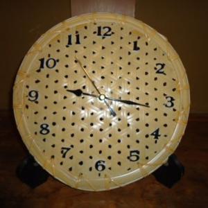 鉄線編みの時計を作ってみた