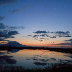 夕焼け岩木山  2020.5.27