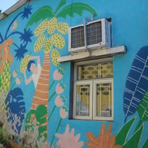 【香港郊外】荃灣郊外の素朴可愛い壁画村♪