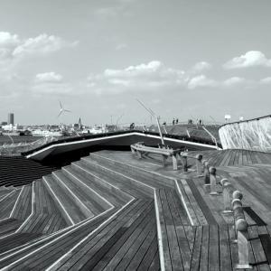 大さん橋の屋上デッキ