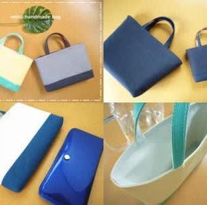 【ハンドメイド】合皮でバッグインバッグを作っています