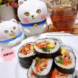 昨日のお昼ごはん #キンパ #ぬいぐるみ #ぬい撮り #ハンドメイド 096