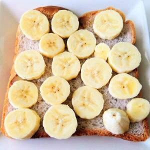 パスコのくるみブレッドのバナナホイップトースト♪