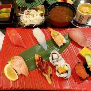 活魚廻転寿司 にぎり長次郎 杭瀬店のお昼のおもてなし 寿司御膳 彩&にぎり寿司