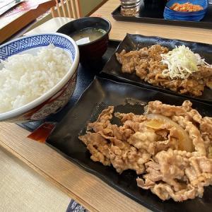 吉野家 寝屋川昭栄町店の牛皿・牛カルビ定食&ねぎ玉牛丼&キムチカルビ丼