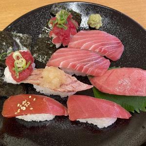 スシロー 東淀川2号店の特選天然本鮪8貫盛り&にぎり寿司&スイーツ