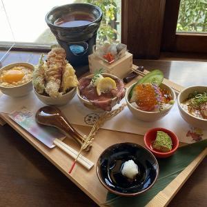 五木茶屋 嵐山の京丼食べ比べ膳(秋バージョン)